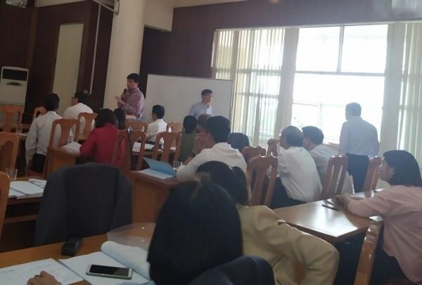 Ông Cao Việt Hùng, Đại diện cho Bộ NN&PTNT phát biểu tại hội thảo