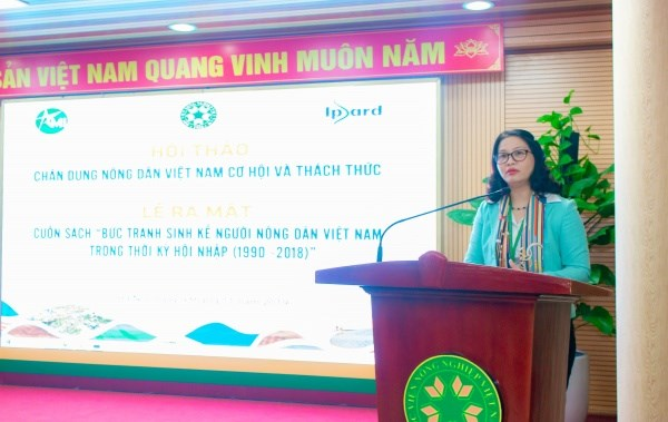 GS.TS. Nguyễn Thị Lan – Giám đốc Học viện Nông nghiệp Việt Nam phát biểu khai mạc hội thảo