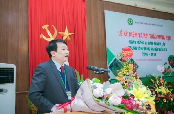 PGS.TS. Trần Văn Quang – Trưởng khoa Nông học phát biểu khai mạc buổi lễ