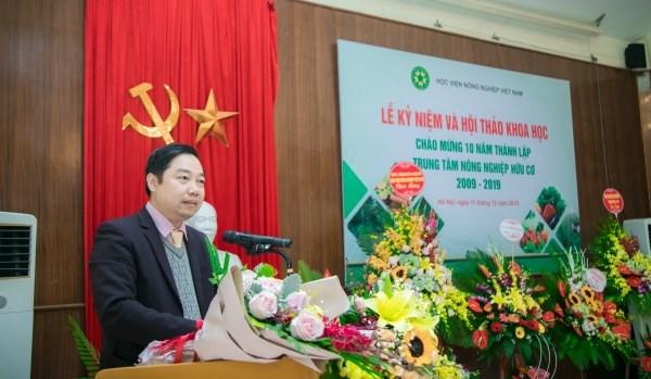 Ông Nguyễn Quang Tin – Phó vụ trưởng vụ Khoa học công nghệ và Môi trường phát biểu chúc mừng