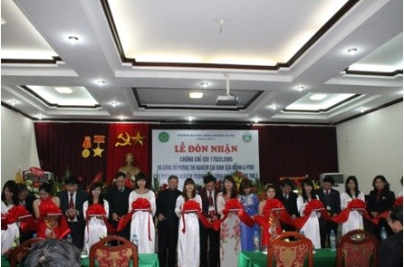 The Inauguration ceremony of the Key Laboratory for Veterinary of the Faculty in Jan 2013