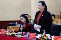 Phó Chủ tịch Thường trực Quốc hội Tòng Thị Phóng cùng đoàn công tác của Quốc hội đến thăm và làm việc với Học viện Nông nghiệp Việt Nam
