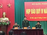 Bộ Quốc phòng họp báo Quý IV năm 2018