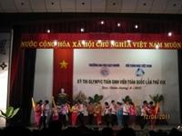 Kết quả tham gia kỳ thi Olympic Toán học Sinh viên toàn quốc lần thứ XIX