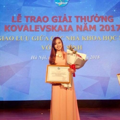 Bà Vũ Anh Phương - Cựu sinh viên VNUA (Khóa 59) đang học tiến sỹ tại Mỹ