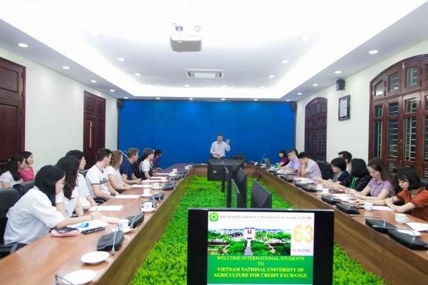 Tiếp nhận sinh viên trao đổi quốc tế từ nhiều quốc gia như Đức, Hà Lan, Indonesia, Hàn Quốc, Nhật Bản, năm học 2019-2020 tại Học viện Nông nghiệp Việt Nam
