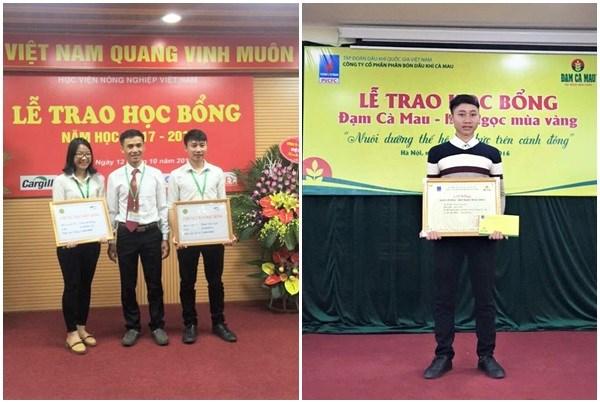 Phan Văn Lịch vinh dự được nhận nhiều suất học bổng của Học viện và doanh nghiệp tài trợ