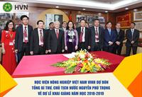 Học viện Nông nghiệp Việt Nam vinh dự đón Tổng Bí thư, Chủ tịch nước Nguyễn Phú Trọng về dự Lễ khai giảng năm học 2018-2019