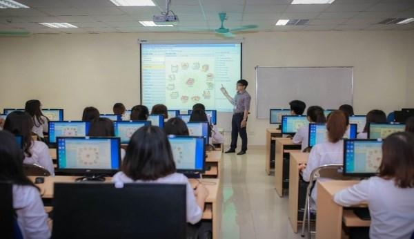 Một tiết học của sinh viên Học viện