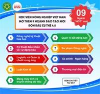 Học viện Nông nghiệp Việt Nam mở thêm 9 ngành đào tạo mới đón đầu xu thế 4 0