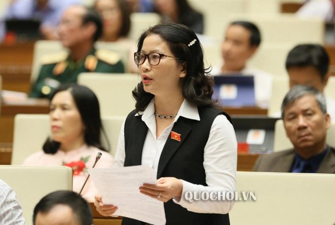 Đại biểu đoàn Hà Nội Nguyễn Thị Lan. Ảnh: Quochoi.vn.