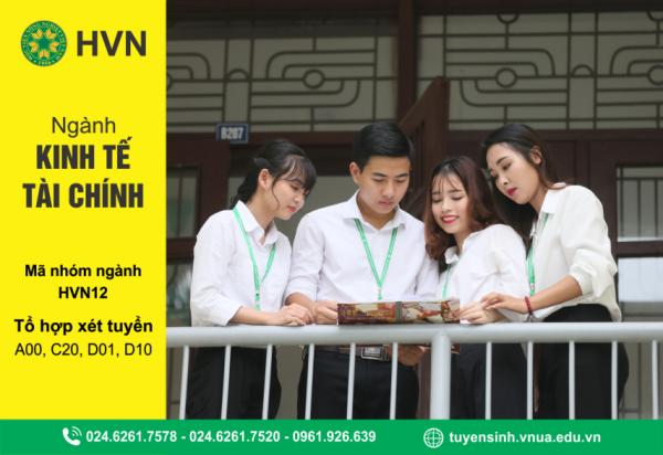 Thông tin tuyển sinh ngành Kinh tế tài chính của Học viện Nông nghiệp Việt Nam