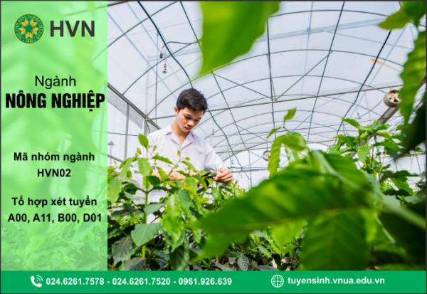 Thông tin tuyển sinh ngành Nông nghiệp năm 2020