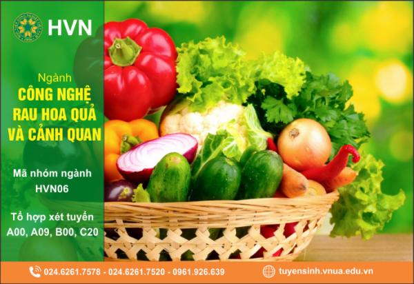 Thông tin tuyển sinh ngành Công nghệ rau hoa quả và cảnh quan (Horticulture and Landscaping design) của Học viện Nông nghiệp Việt Nam