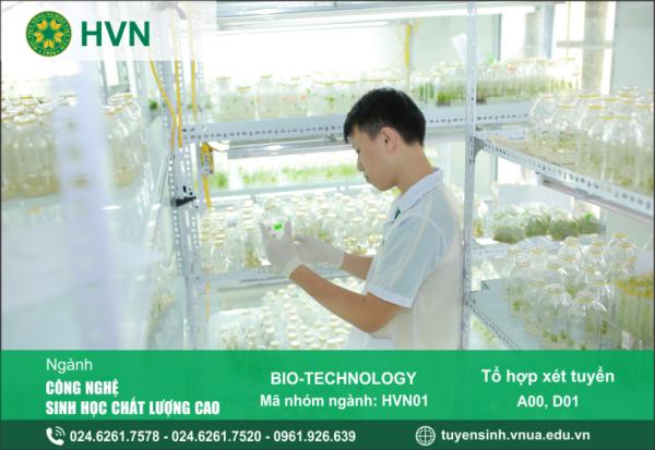 Thông tin tuyển sinh ngành Công nghệ sinh học chất lượng cao của Học viện Nông nghiệp Việt Nam