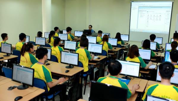 Một tiết học của sinh viên Học viện Nông nghiệp Việt Nam
