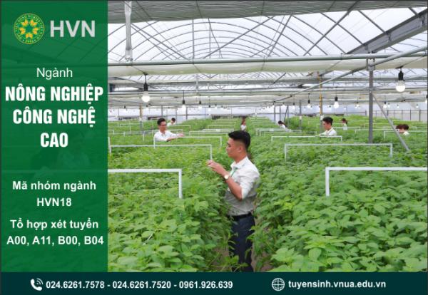 Thông tin tuyển sinh ngành Nông nghiệp công nghệ cao của Học viện Nông nghiệp Việt Nam