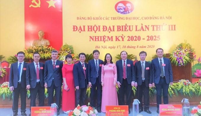 Đoàn đại biểu Học viện Nông nghiệp Việt Nam tham dự Đại hội Đảng bộ Khối các trường ĐH, CĐ Hà Nội lần thứ III, nhiệm kỳ 2020-2025