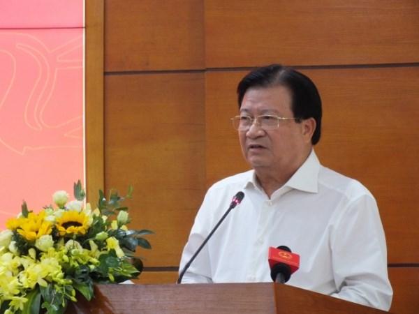 Phó Thủ tướng phát biểu tại Hội nghị lấy ý kiến về Chiến lược phát triển chăn nuôi giai đoạn 2020-2030, định hướng năm 2040. Ảnh: Lê Bền.