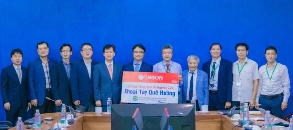"""Tập đoàn ORION Việt Nam trao tặng thiết bị nghiên cứu """"Khoai tây quê hương"""" cho Viện Sinh học Nông nghiệp"""