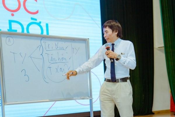 """TS. Lê Thẩm Dương giao lưu cùng sinh viên Học viện với chủ đề """"Tinh thần khởi nghiệp"""""""