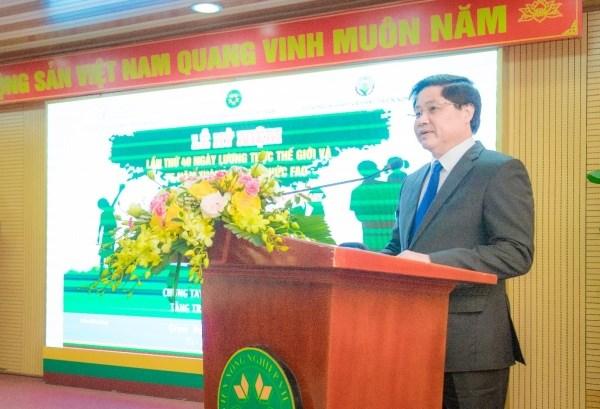 Thứ trưởng Bộ Nông nghiệp và Phát triển nông thôn Lê Quốc Doanh phát biểu tại buổi lễ