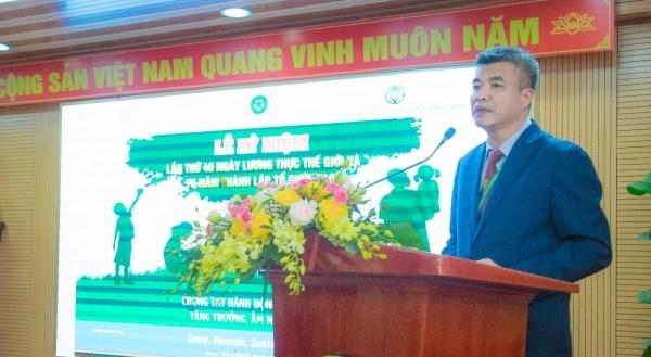 GS.TS. Phạm Văn Cường - Phó Bí thư Đảng ủy, Phó Giám đốc Học viện Nông nghiệp Việt Nam bày tỏ vui mừng khi cùng với Tổ chức FAO tổ chức Lễ kỷ niệm ngày Lương thực Thế giới 2020 và 75 năm thành lập FAO