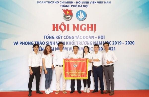 Đoàn Đại biểu của Đoàn Thanh niên – Hội sinh viên Học viện chụp ảnh lưu niệm tại Hội nghị