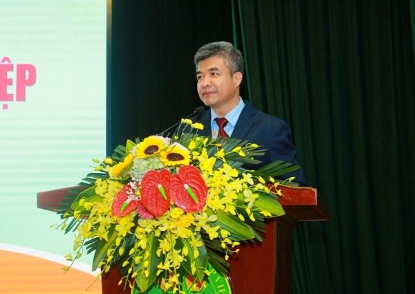 GS.TS. Phạm Văn Cường - Phó Bí thư Đảng ủy, Phó Giám đốc Học viện phát biểu tại buổi lễ