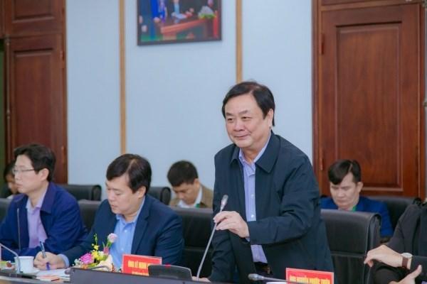Thứ trưởng Bộ NN&PTNT Lê Minh Hoan phát biểu tại buổi làm việc