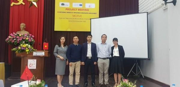 Cán  bộ Học viện Nông nghiệp Việt Nam tham dự tập huấn dự án Motive.
