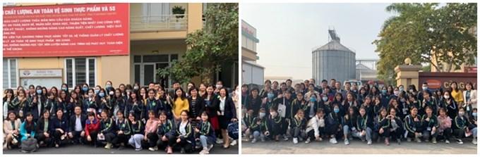 Tập thể sinh viên và giảng viên đoàn kiến tập dành cho K65 ngày 11/12/2020 tại Công ty TNHH Nutreco