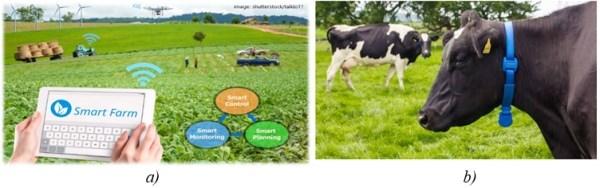 Hình 8. Ứng dụng Internet vạn vật kết nối (IoT) để giám sát và quản lý trang trại