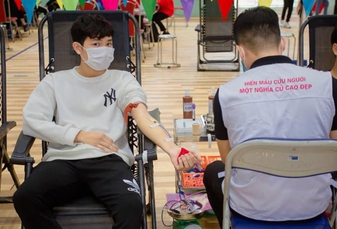 Sinh viên Học viện Nông nghiệp Việt Nam tại ngày hội hiến máu toàn trường