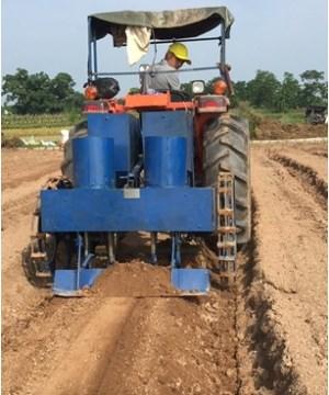 Máy gieo hạt đậu tương kết hợp với bón phân