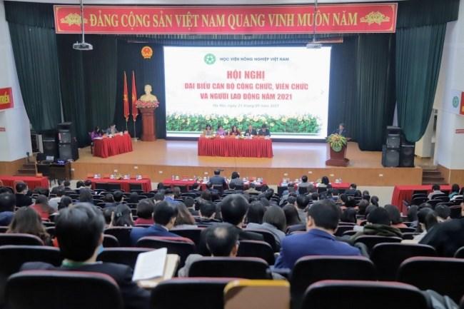 Hội nghị đại biểu cán bộ, công chức, viên chức và người lao động Học viện Nông nghiệp Việt Nam năm 2021