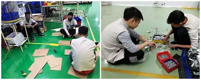 Sinh viên tham gia sản xuất tại nhà máy