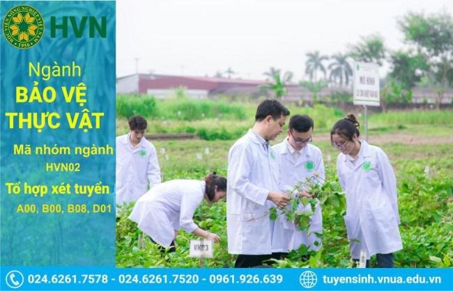 Thông tin tuyển sinh ngành Bảo vệ thực vật của Học viện Nông nghiệp Việt Nam.