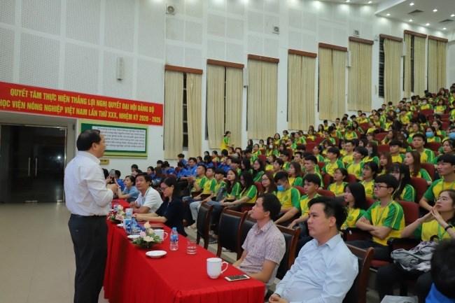 TS. Vũ Ngọc Huyên – Phó Bí thư thường trực Đảng ủy, Phó Giám đốc Học viện phát biểu chỉ đạo Hội nghị