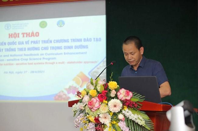 Ông Hoàng Văn Tú – FAO VN phát biểu khai mạc