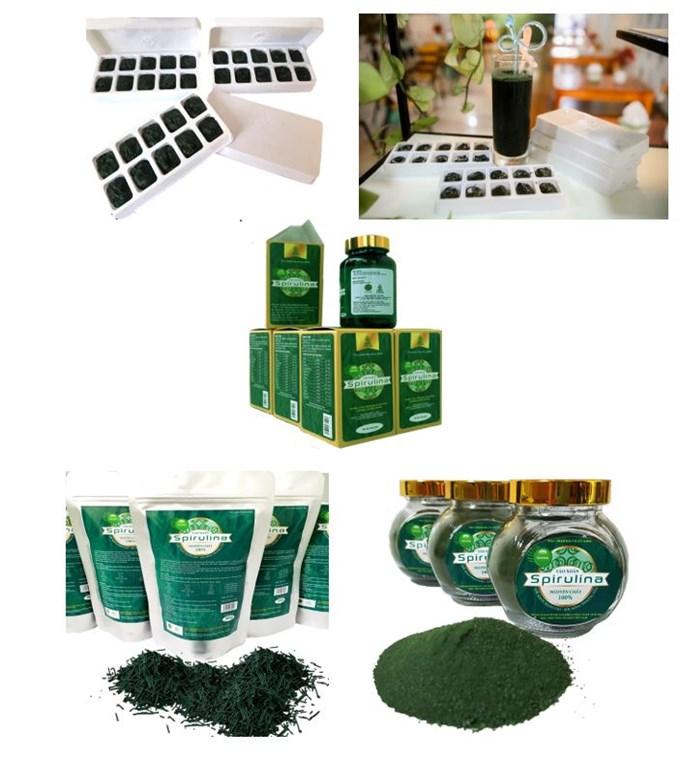 Các sản phẩm từ tảo xoắn Spirulina nguyên chất