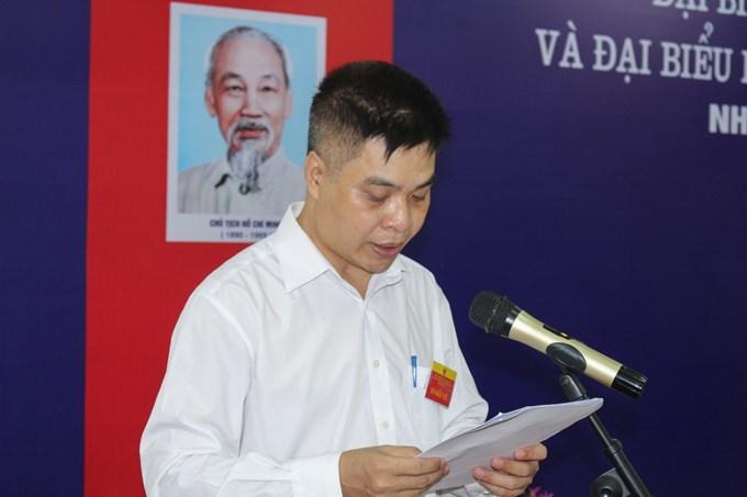 PGS.TS. Đỗ Quang Giám – Tổ trưởng tổ bầu cử số 13 phát biểu khai mạc