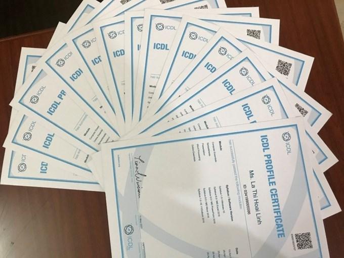 K ết quả thi lớp chứng chỉ tin học quốc tế ICDL 2102 của sinh viên HVNN
