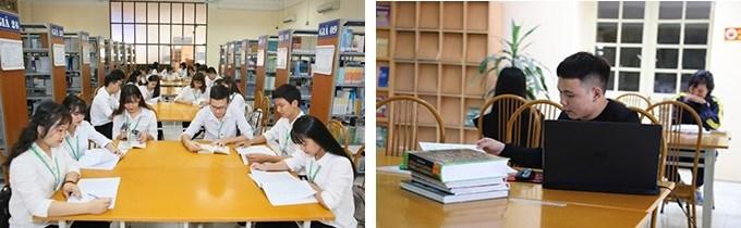 Hình ảnh sinh viên đến thư viện đọc sách mỗi ngày