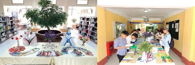 Không gian trưng bày, giới thiệu sách được đổi mới thường xuyên tạo sự mới mẻ, lôi cuốn người đọc