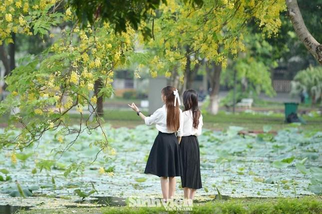 Góc bốn hồ được mệnh danh là nơi tạo điểm nhấn ấn tượng nhất trong khuôn viên ngôi trường rộng bậc nhất Hà Nội.