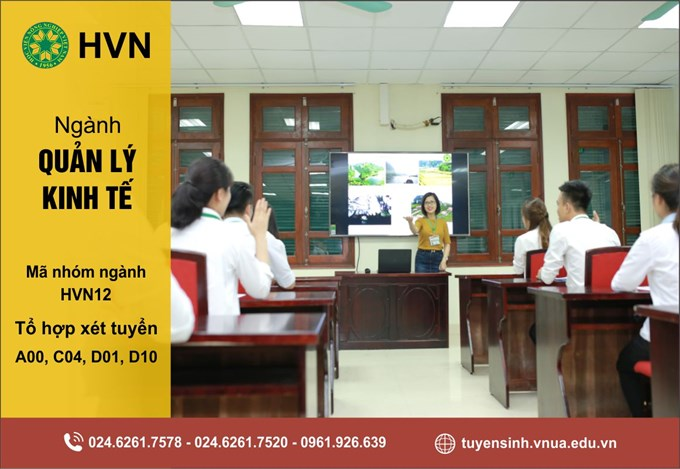 Thông tin tuyển sinh ngành Quản lý kinh tế năm 2021, Học viện Nông nghiệp Việt Nam. Ảnh: VNUA.
