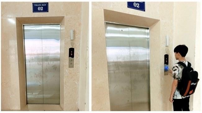 Hệ thống thang máy hiện đại tại khu KTX