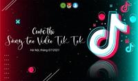 """Kết quả cuộc thi """"Sáng tạo video TikTok"""" cấp Hội Sinh viên Học viện năm 2021"""