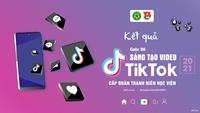 """Kết quả cuộc thi """"Sáng tạo video TikTok"""" cấp Đoàn Thanh niên Học viện năm 2021"""
